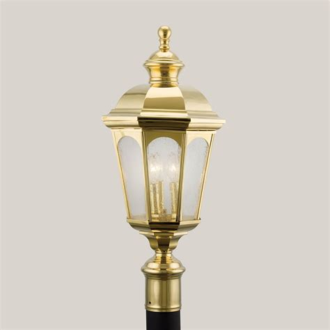 polished brass outdoor post lights aztec lighting polished brass outdoor post l posts