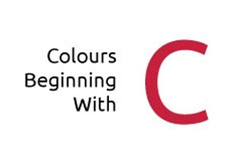 a color that starts with c a to z of colours media