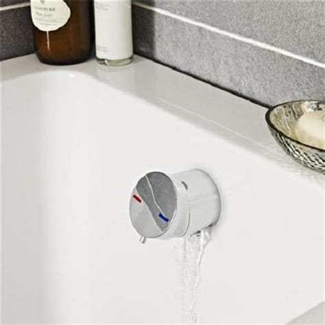 Spa Vanity Whirlpool Jacuzzi Bath Filler With Push Button Waste