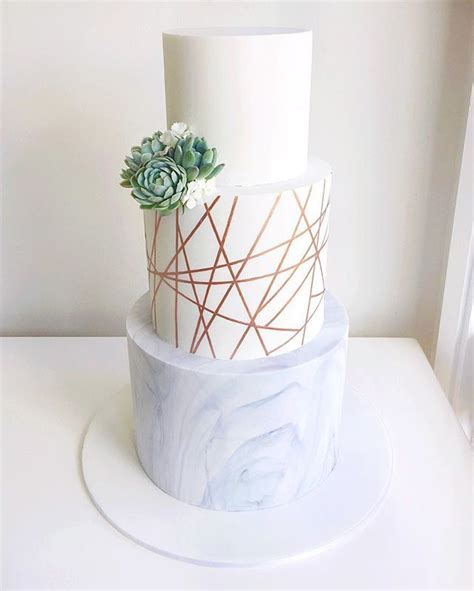 Modern Wedding Cakes by A Modern Wedding Cake Composed Of Marble Geometric