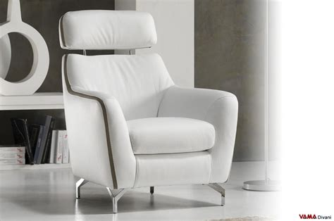 contemporary leather armchair contemporary leather armchair with raised headrest