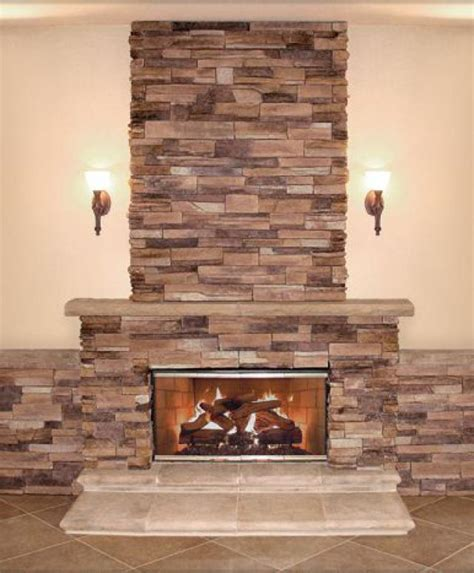 news stacked fireplace surround on stack