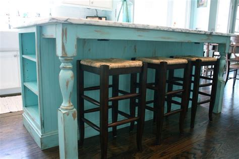 Shabby Chic Kitchen Island Turquoise Painted Kitchen Cabinets Shabby Chic Kitchen Island Kami Tremblay Design Kitchen