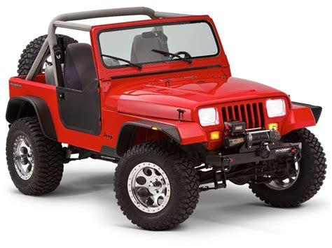 jeep wrangler yj 87 95 bushwacker flat style black fender