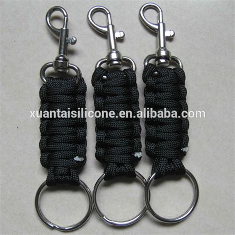 Fiber Chain Carabiner By Bromarket wholesale braided paracord rope keychain with carabiner