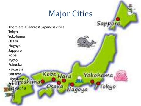 map of japan major cities japan