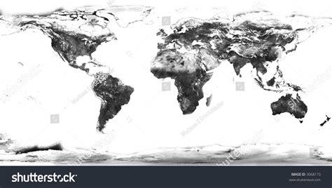 high resolution black white world map stock photo 3068173