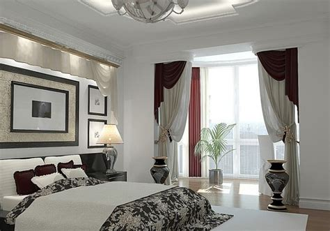 Pictures Of Bedroom Window Treatments Artistic Window Treatments For A Master Bedroom In Black