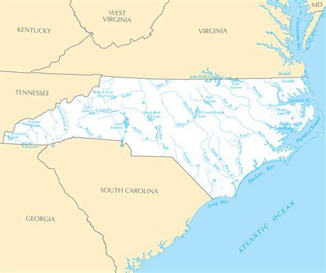 lakes in carolina map carolina rivers and lakes mapsof net