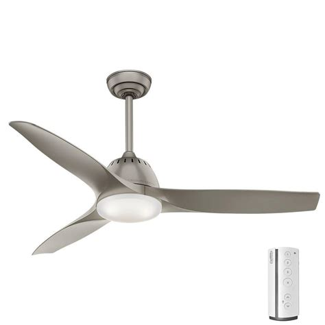 casablanca home ceiling fan casablanca wisp 52 in led indoor painted pewter ceiling