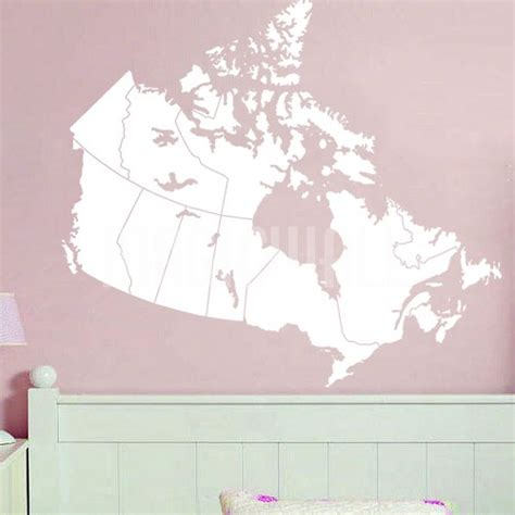 wall sticker canada wall decals canada map wall stickers