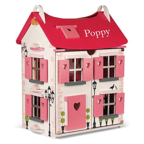 wooden dolls houses for children personalised wooden dolls house by harmony at home children s eco boutique