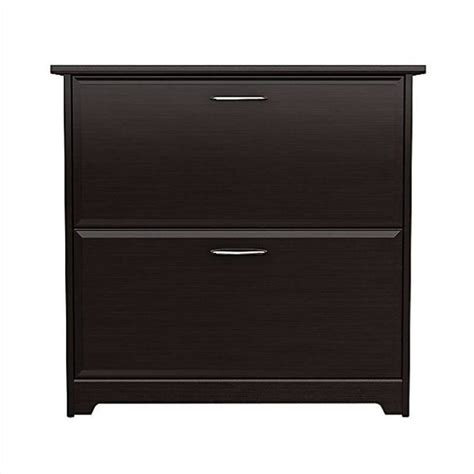 Bush Cabot 2 Drawer Lateral File Cabinet In Espresso Oak Bush Lateral File Cabinet