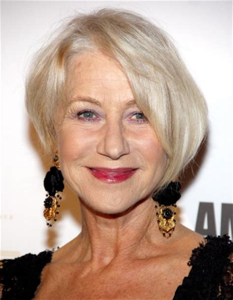 makeovers for60 plus women helen mirren trendy and rejuvenating haircut for 60 plus