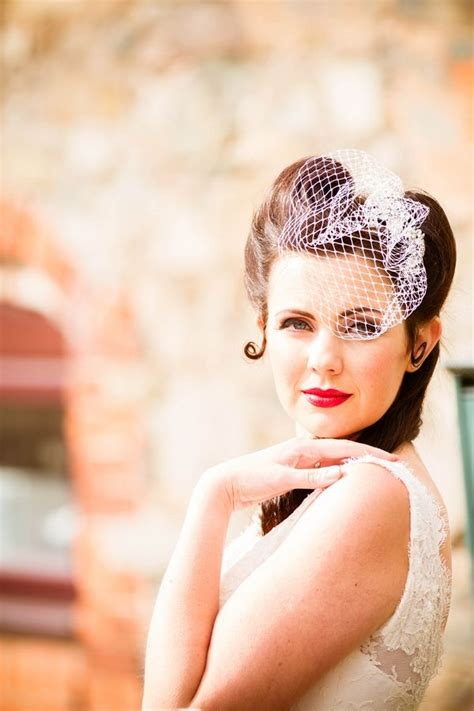 Vintage Wedding Hair With Birdcage Veil by Vintage Birdcage Veil Pin Up Hair