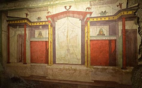 The Room Palatine file house of augustus domus augusti south wall of the mask room 2nd pompeian style