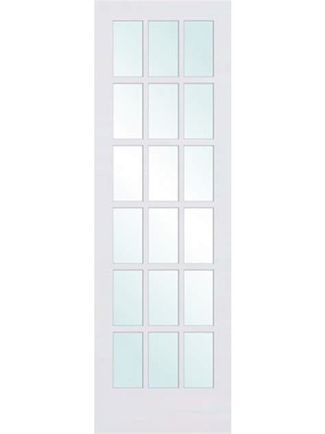 milette interior french door primed with 15 lites clear 1 3 8 quot primed interior french door 18 lite by woodgrain