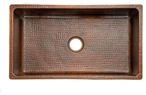 Rustic Kitchen Sink by 33 Quot Copper Drop In Or Undermounted Sink Rustic Kitchen