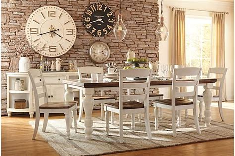 farmhouse dining room table sets farmhouse table two tone marsilona dining room table