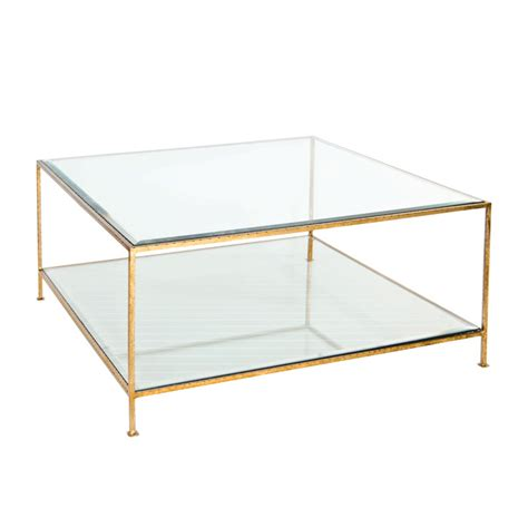 worlds away quadro hammered gold leaf square coffee table