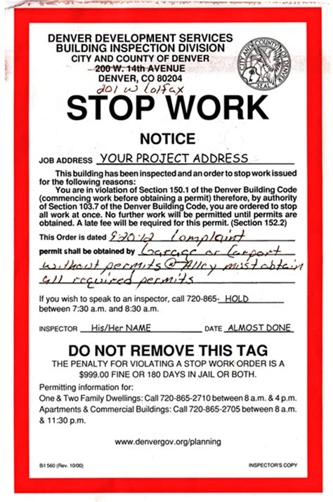 Stop Work Order by Blog Roger J Day Amp Associates