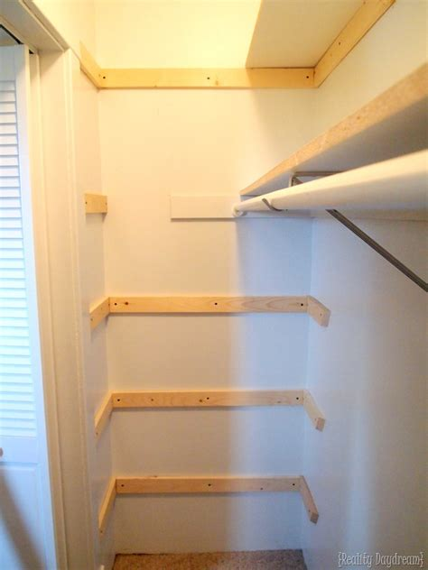 Closet Building Materials by Diy Custom Closet Shelving Tutorial Reality Daydream