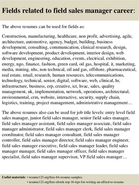 Field Sales Manager Sle Resume by Top 8 Field Sales Manager Resume Sles