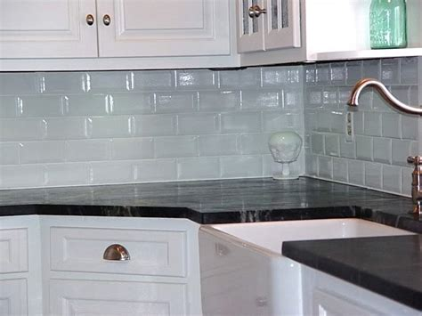 Small Tile Backsplash In Kitchen White Glosssy Subway Tiles Backsplash Kitchen For Small L