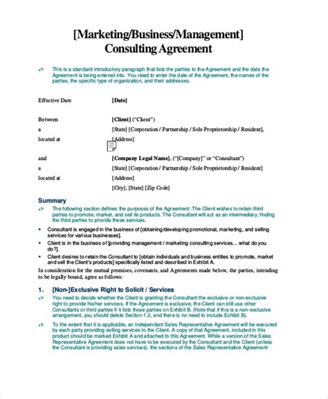 standard consulting agreement template 8 standard consulting agreement sles sle templates