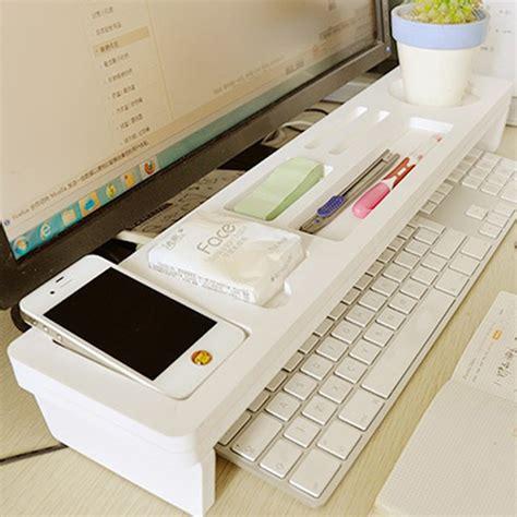 computer keyboard holder desk desktop storage rack home office computer keyboard