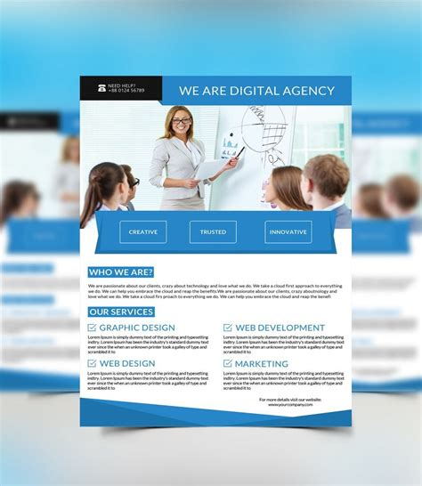 free flyer templates one page brochure simple templat