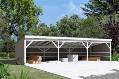open shed plans pole building open shed project plan 85946 homesteading pole buildings