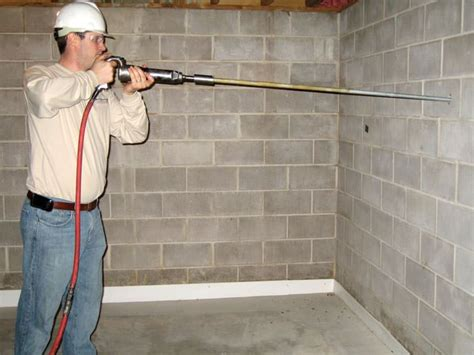 basement wall anchor systems channel wall anchor system for collapsing foundation walls