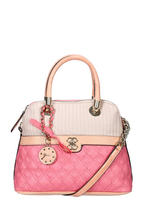 Guess Bag lyst guess town bag hwvg45 in pink
