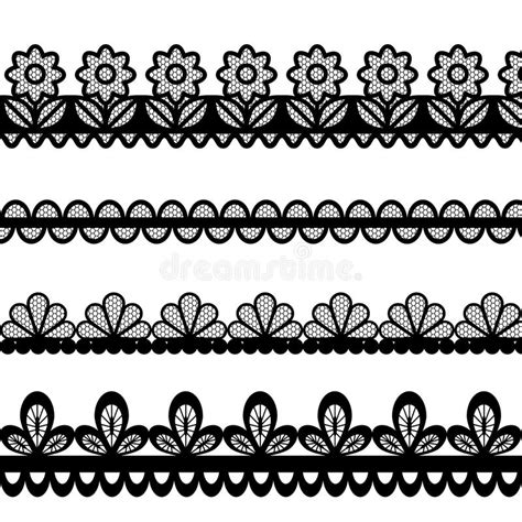 eps format borders set of lace vector borders stock vector illustration of