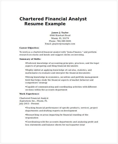 financial analyst resume sle fresh graduate financial analyst resume sle