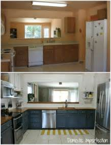 Cheap Kitchen Makeover Ideas Before And After by Farmhouse Kitchen On A Budget The Reveal Domestic