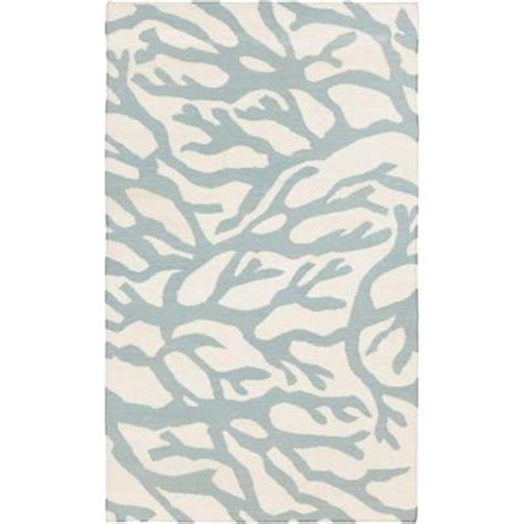 powder blue rug surya somerset bay powder blue 5 ft x 8 ft flatweave area rug bdw4003 58 the home depot