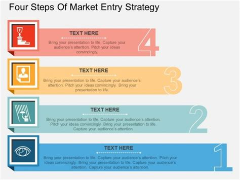 Business Powerpoint Templates 3 Step Marketing Plan Sales four steps of market entry strategy powerpoint template