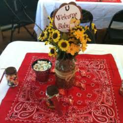 western themed centerpieces western theme baby shower decor