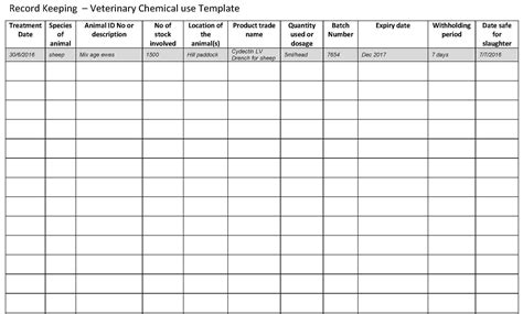 Business Records Record Keeping Template For Small Business