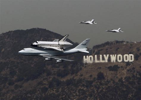 Back In La by Shuttle Endeavor Tours California In Flyby Photo Op