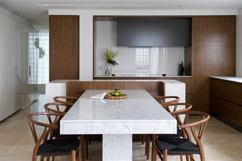 marble dining table dining room modern with breakfast bar