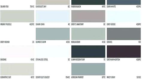 grey color names different shades of gray color light grey color names