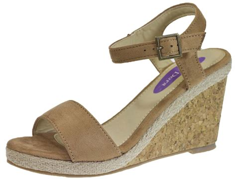 summer wedge sandals womens hessian cork wedge sandals strappy glitter wedges