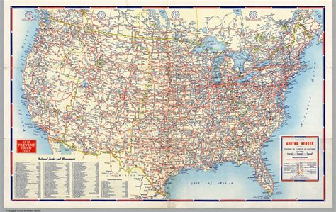 usa map states roads driving map of the united states