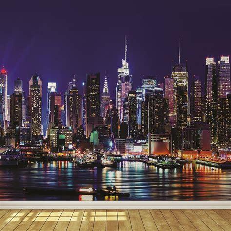 new york city skyline wallpaper for bedroom new york skyline wallpaper bedroom www pixshark com
