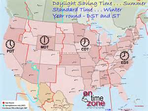 Time zone borders map of the united states lower 48 daylight saving