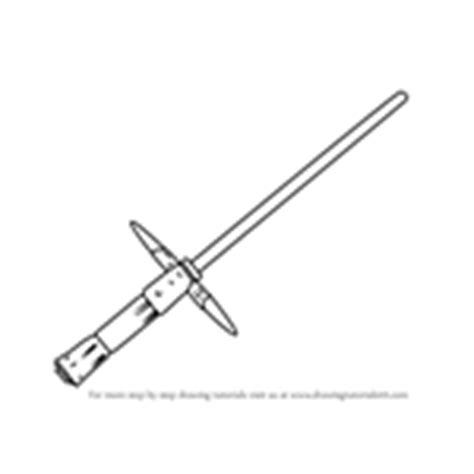 kylo ren lightsaber coloring page learn how to draw kylo ren s lightsaber from star wars