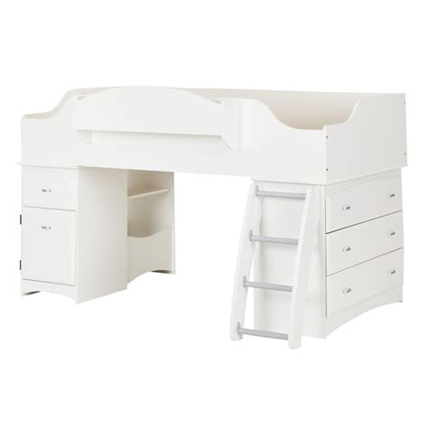 lofted twin bed south shore imagine twin loft bed in pure white 3560a3